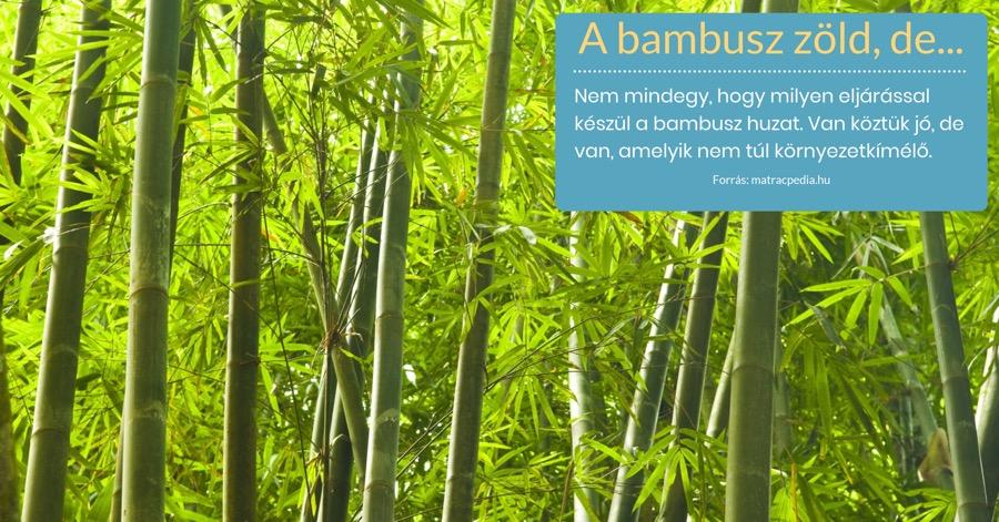 Bambusz matrac alapanyag