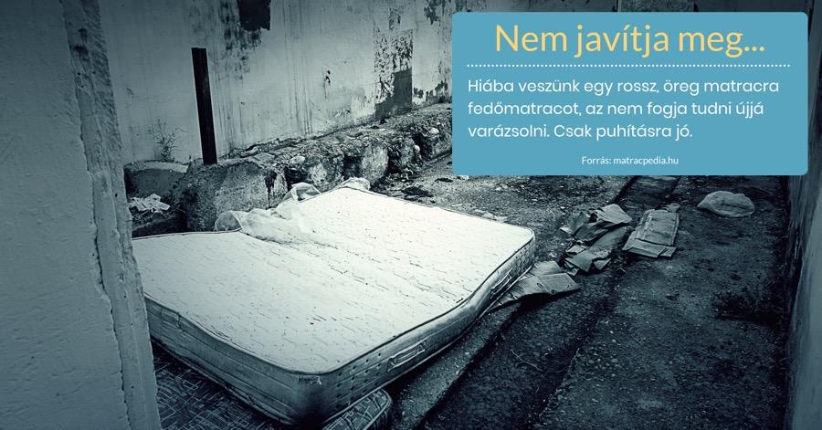 kifeküdt matrac fedőmatrac